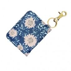 ID Wallet Keychain - Blue Flowers