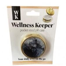 Women's Pocket-Sized Pill Case - Black Marbles