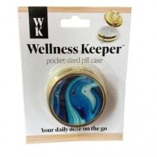 Women's Pocket-Sized Pill Case - Blue Swirls