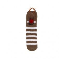 Cozy Cute Holiday Socks - Reindeer