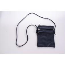 Blue Spanish Cowhide Leatherette 3 Zipper Crossbody Bag