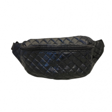 Quilted Fanny Bag - Black