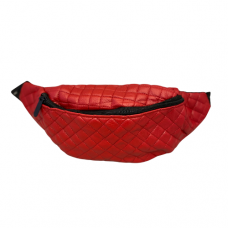 Quilted Fanny Bag - Red