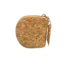 Cork Zippered Dome Coin Purse
