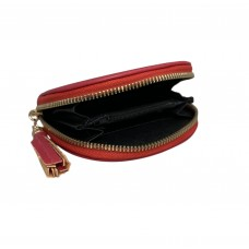 Magenta Spanish Cowhide Leatherette Zippered Dome Coin Purse
