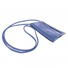 Blue Spanish Leatherette Crossbody Bag With Clear Touchable Front Pocket