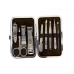 9 Piece Stainless Steel Manicure Set - Leopard White