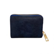 Zippered Card Wallet - Blue