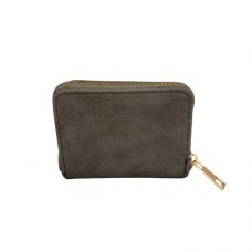 Zippered Card Wallet - Gray