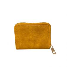 Zippered Card Wallet - Mustard