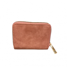 Zippered Card Wallet - Pink