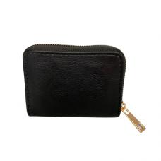 Zippered Card Wallet - Black