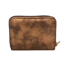 Pebble Zippered Card Wallet - Copper