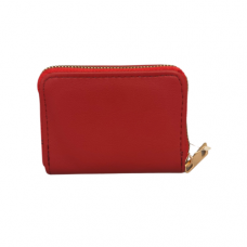 Pebble Zippered Card Wallet - Red