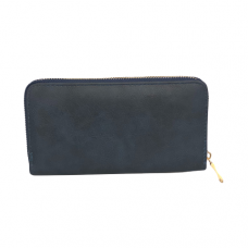Zippered Large Wallet - Navy