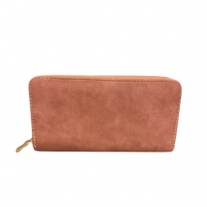 Zippered Large Wallet - Pink