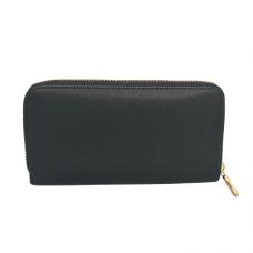 Zippered Large Wallet - Black