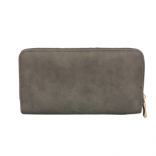 Zippered Large Wallet - Gray