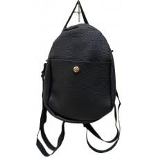 Black Pebble Leatherette Mini Back Pack