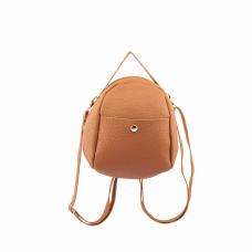Tan Pebble Leatherette Mini Back Pack
