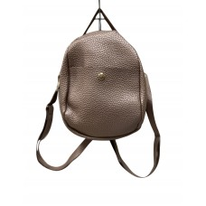 Pewter Pebble Leatherette Mini Back Pack