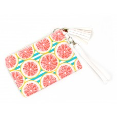 Fruit and Stripe Wristlet Bag