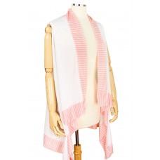 Stripe Border Jersey Vest - Pink