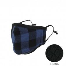 Buffalo Check Reusable Adult 2-Layer Mask - Blue