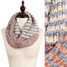Chenille 3 Tone Infinity Scarf