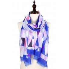 Geometric Print Scarf - Lavender