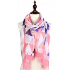 Geometric Print Scarf - Pink