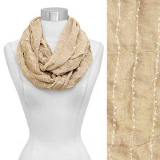 Solid Infinity Scarf - Beige
