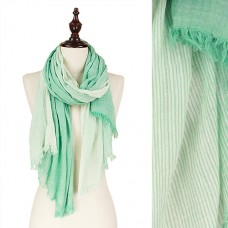 Crinkle Color Ombre Stripe Scarf - Mint