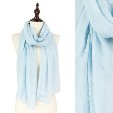 Dotted Stripe Scarf - Blue