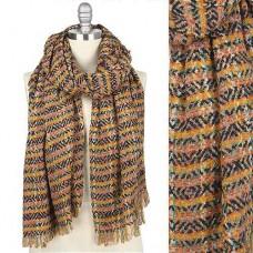 Multi Color Tweed Scarf - Jewel Tone