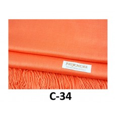 Solid Coral Pashmina Scarf