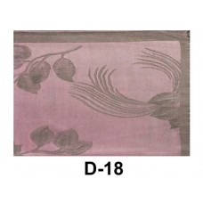 Pink Pashmina Scarf With Light Gray Rose Print