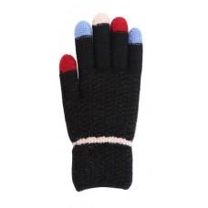 Children's Knit Gloves - Black