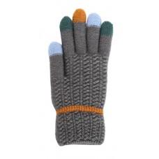 Children's Knit Gloves - Gray