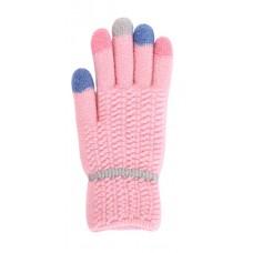 Children's Knit Gloves - Light Pink