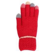 Children's Knit Gloves - Red