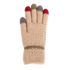 Children's Knit Gloves - Tan