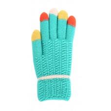 Children's Knit Gloves - Teal