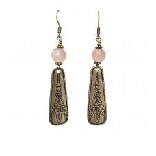 Antique Gold Dangle Wire Earrings