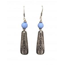 Antique Silver Dangle Wire Earrings