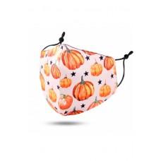 Children's Cloth Reusable Mask - Pumpkin And Star
