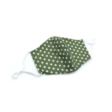 Adult Polka Dot Print Mask - Green