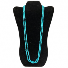 6 mm Turquoise Cut Glass Necklace