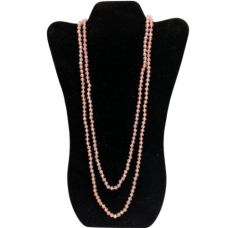 6 mm Pink Cut Glass Necklace