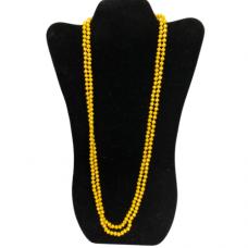 6 mm Mustard Cut Glass Necklace
